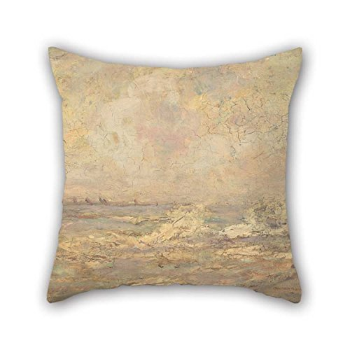 Artsdesigningshop Oil Painting George Grosvenor Thomas - Seascape Throw Pillow Covers Best for Sofa Car Son Valentine Deck Chair Drawing Room 20 X 20 Inches / 50 by 50 cm(Two Sides) (Grosvenor Maple Leaf)