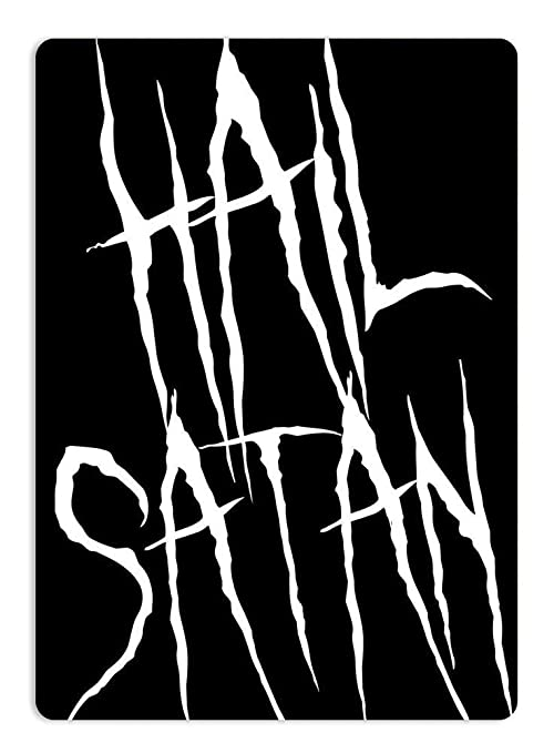 Hail Satan Retro Cartel de Chapa Coffee Póster Bar Cafe ...