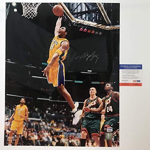 Autographed/Signed Kobe Bryant Los Angeles Lakers 16x20 Basketball Photo PSA/DNA COA #2 ()