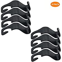 8PCS Car Seat Back Hook Auto Seat Headrest Portable Organizer Holder Hooks Grocery Shopping Bag Travel Vehicle Car Safety Hanging Hook Carrier