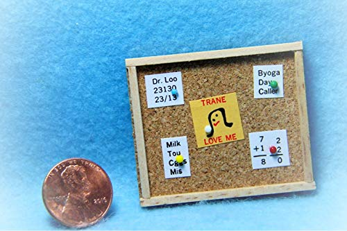 (Dollhouse Memo Board/Cork Board KL0309 - Miniature Scene Supplies Your Fairy Garden - Doll House - Outdoor House Decor)