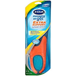 Dr. Scholl\'s Massaging Gel Extra Support Insoles (Men\'s Size 8 to 14) 1-Pair