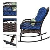Sundale Outdoor Wicker Rocking Chair Rattan Outdoor