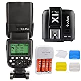 Godox TT685S GN60 1/8000s HSS TTL Flash Speedlite + 2.4G X1T-S Trigger Transmitter for Sony DSLR A7 A7R A7S A7 II A7R II A7S II A6300 A6000 Camera + Mcoplus 3pcs Diffuser and AA Battery Kit