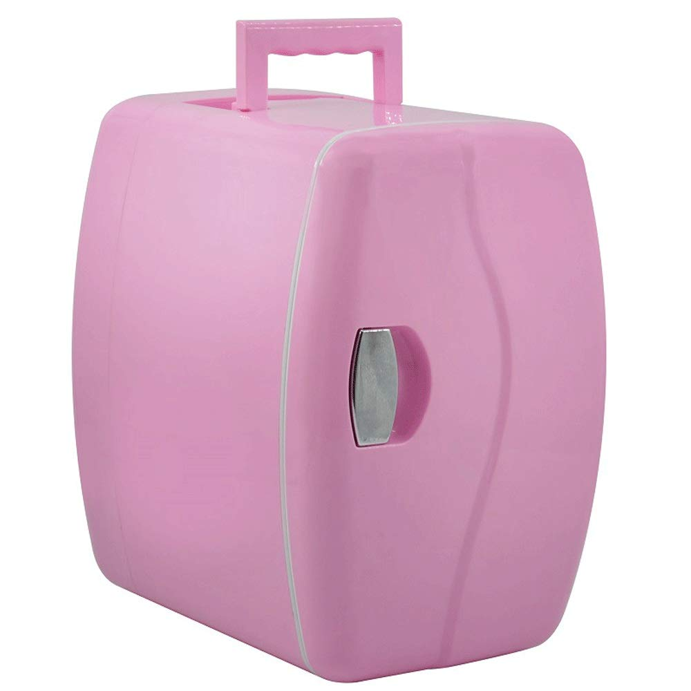HKJhk Small Refrigerator Car Refrigerator Mini Refrigerator 4.5L Heating and Cooling Box Portable Car Gift (Color : Pink)