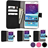QMobile Noir X450/X700/X900/Z4/Z5/Z6/Z8/Z8 Plus/Z9 phone case, COOPER SLIDER Mobile Cell Phone Wallet Protective Case Cover Casing with Open Camera & Credit Card Holder (Black)