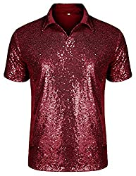 Short Sleeve Sequins Polo Shirts