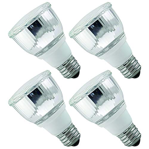 (Luxrite LR20130 (4-Pack) 10W PAR20 CFL Light Bulb, Warm White 2700K, Flood Light Bulb, E26 Medium Base)