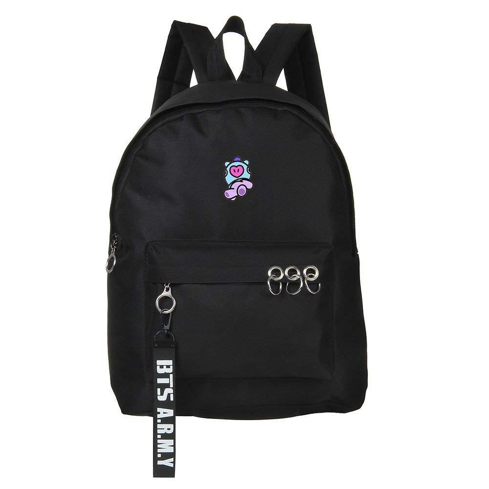 color Black21-SHOOKY universidad Mochila unisex para escuela viaje Skisneostype Kpop BTS Bangtan port/átil ideal como regalo para los fans de BTS