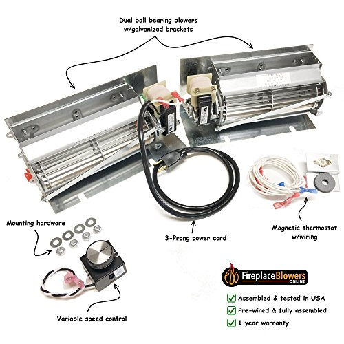 blower install how x photo fireplace step kit installation to of