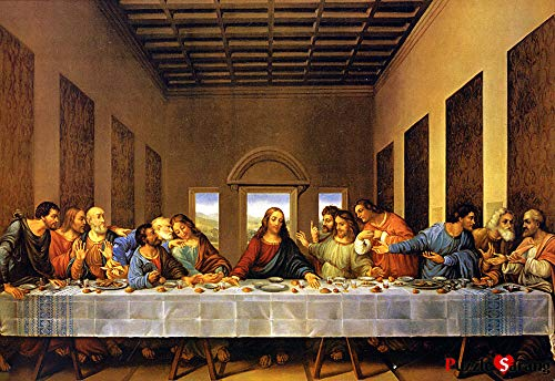 [PuzzleLife] Leonardo Da Vinci Last Supper | 1000 Piece - Large Format Jigsaw Puzzle. Can be Enjoyed by All Generation. Beautiful Decoration, Pleasant Play