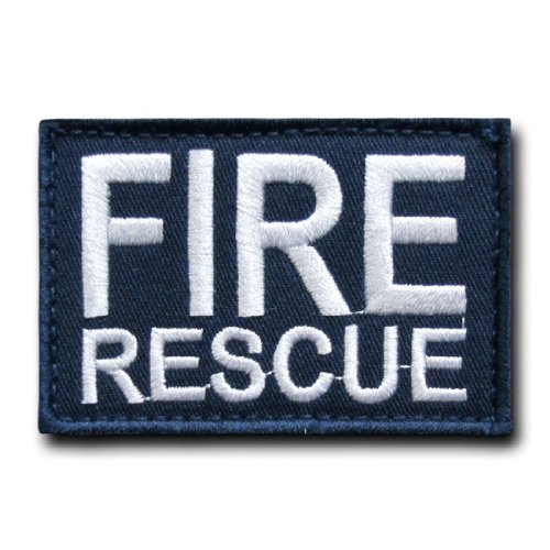 Fire Rescue Patch - Rapid Dom Tactical Canvas 3 x 2 Embroidered Patches T91 Fire Rescue