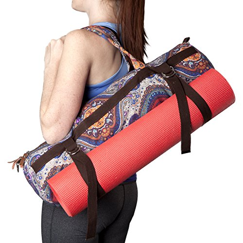 Kindfolk Yoga Mat Bags Carrier Patterned Canvas With