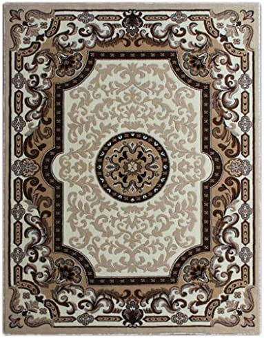 Traditional Area Rug Design Kingdom D 123 Ivory 8 Feet X 10 Feet