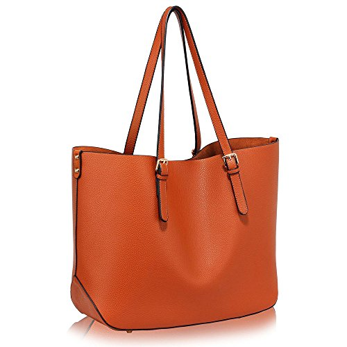 Handbags 1 Style Design Ladies Large Tote Bags Shoulder Brown Leather Womens Designer Faux New wI47x