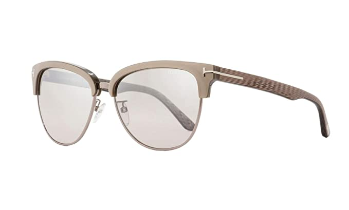 f4f9834fc3475 Amazon.com  TOM FORD FT0368 Fany 57G - shiny beige   brown mirror ...