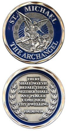 St. Michael The Archangel Challenge Coin Eagle Crest 2487