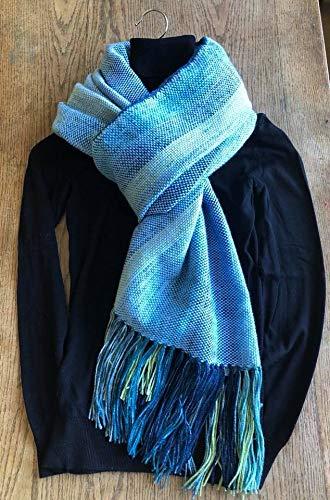 bon service acheter réel prix pas cher Maxi écharpe en laine tissée main: Amazon.fr: Handmade