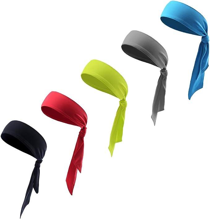 CDJX Corbata deportiva para la cabeza, 5 unidades, ajustable ...