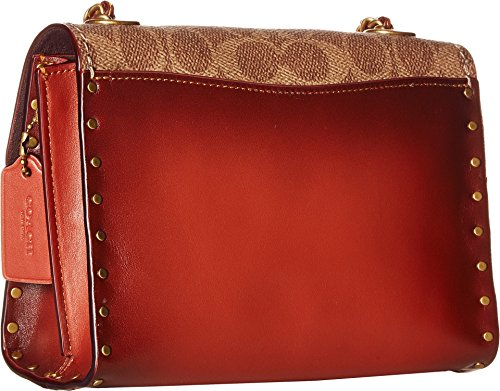 Coach Women's Parker 18 Signature Canvas With Rivets B4rust One Size
