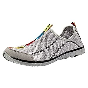 Aleader Men's Mesh Slip On Water Shoes Gray 12 D(M) US