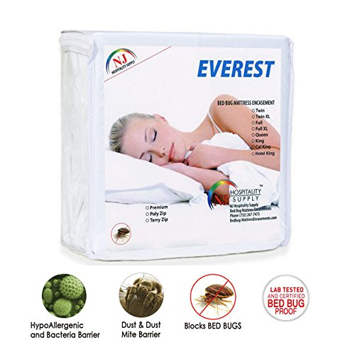 "Everest Polyzip Mattress Encasement 100% Bed Bug Proof, Dustmite Proof, Machine Washable, Non-Waterproof, Breathable-Premium Zippered Six-Sided Cover (SOFA QUEEN (60""x72""), 5-7"" depth)"