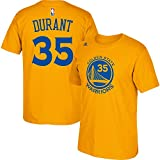 Kevin Durant Golden State Warriors Gold Jersey Name and Number T-Shirt