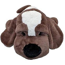 Lying Papa Puppy Stuffed Animal Unique Cuddly Dog Soft Plush Toy Pillow, Gift Kids Christmas (24inch(60cm), Coffee)