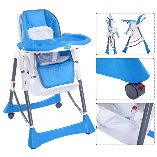FClearup1991 Portable Baby High Chair Infant Toddler Feeding