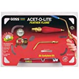 """Goss KA-1H Soldering Kit for Use with """"B"""" Acetylene Tanks with Economical BA-3 Feather Flame Tip"""