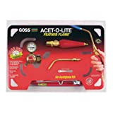"Goss KA-1H Soldering Kit for Use with ""B"" Acetylene Tanks with Economical BA-3 Feather Flame Tip"