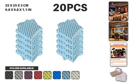 ace-punch-20-pack-baby-blue-egg-crate-acoustic-foam-panel-diy-design-studio-soundproofing-wall-tiles