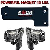 powerful gun - Gun Magnet Mount & Holster For Home & Vehicle - 40 lbs. Upgrade Surface Area, Concealed Magnetic Handgun Mount Holder, Firearm Accessory For: Pistol, Rifle, Shotgun, Revolver, Car, Truck, Wall...