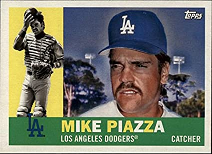 cbfdfe6b7 Amazon.com  2017 Topps Archives  82 Mike Piazza Los Angeles Dodgers ...