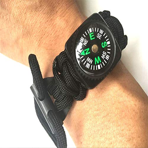 Glumes Survival Bracelet Watch, Survival Paracord Bracelet, Compass for Camping, Climbing, Waterproof Gift for Boys by Glumes (Image #1)