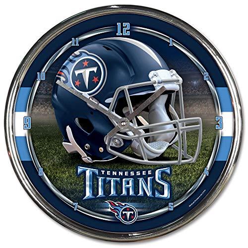 Nfl Football Team Chrome Wall Clock , Tennessee Titans , 12-Inch