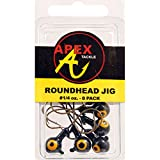 Apex Jig Heads (Pack of 8), Black, 1/4-Ounce