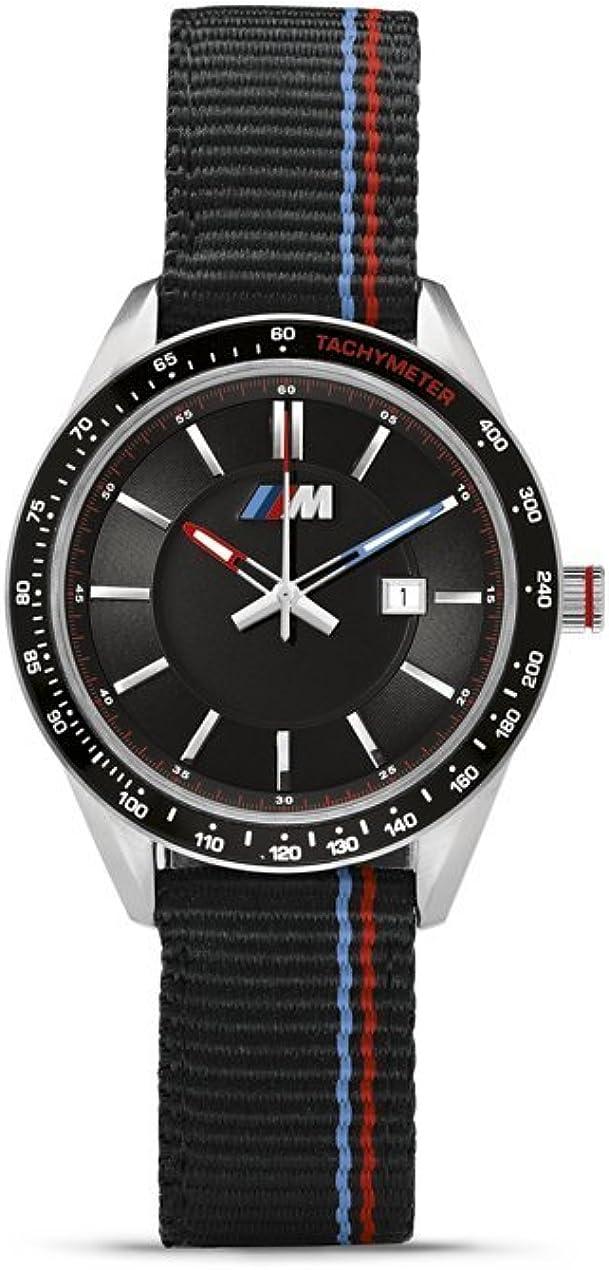 Bmw Original M Logo Watch Men S Black Waterproof Nylon Strap 80262406693 Bekleidung