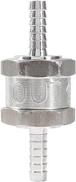 Clapet Anti-retour /à Sens Unique en Alliage dAluminium 6mm Clapet Anti-retour pour Carburateurs et aux Syst/èmes dAlimentation Basse Pression