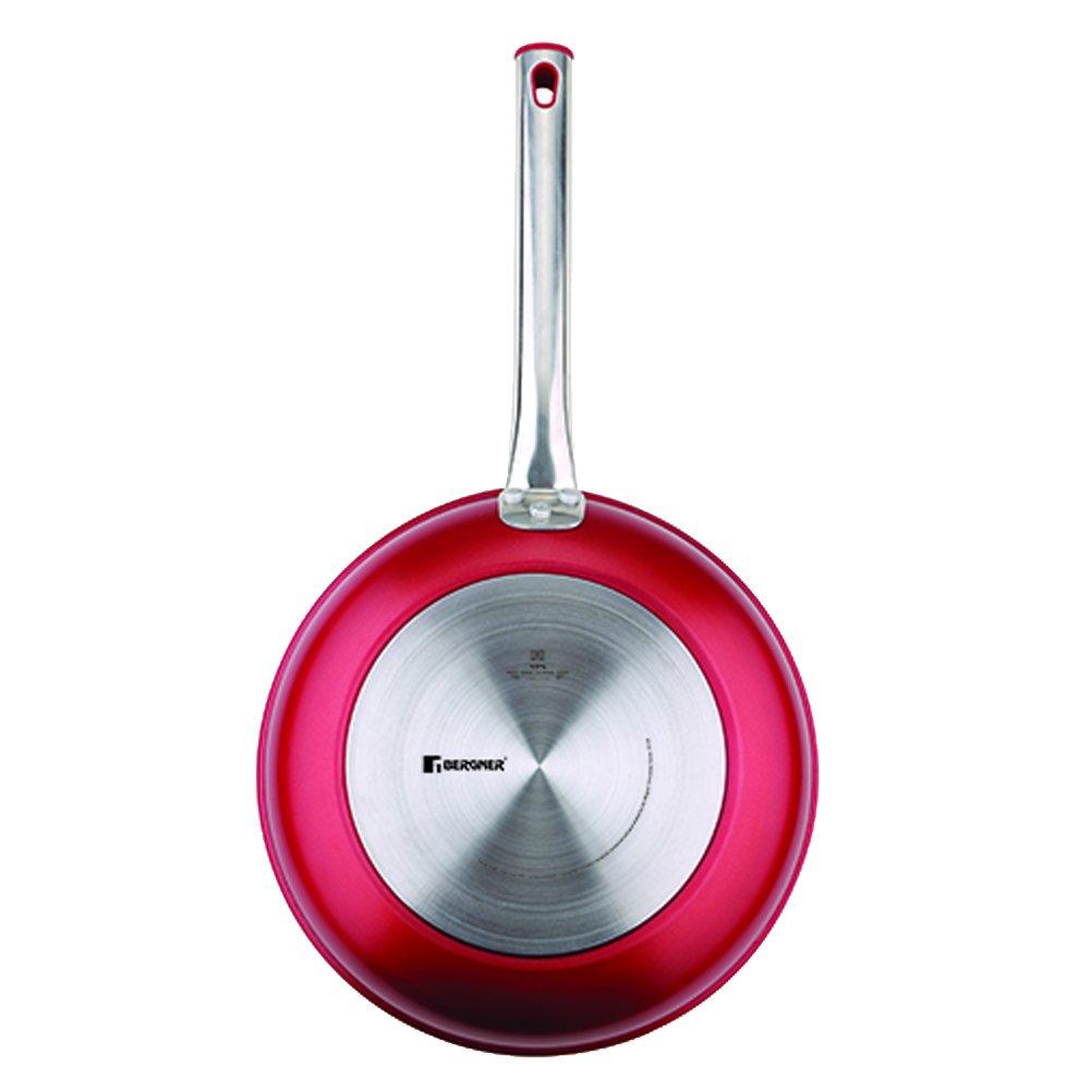 Bergner Moon Set de Sartenes, Aluminio Forjado, Rojo, 24 cm: Amazon.es: Hogar