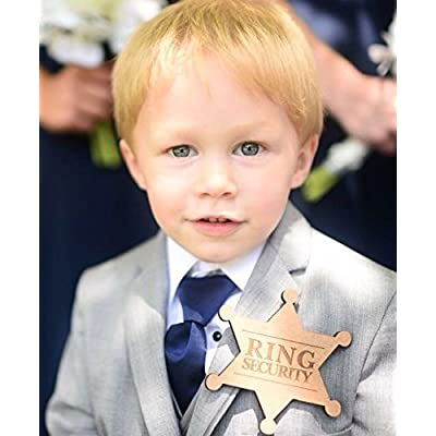 'Ring Security' Wooden Ring Bearer Badge