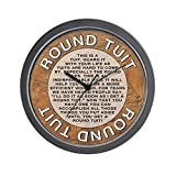 CafePress – Round Tuit – Unique Decorative 10″ Wall Clock For Sale