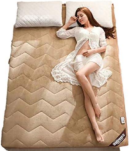 暖かい ぬいぐるみ マットレストッパー ベッド パッド, とろみ 通気性 畳敷き 布団 1 ツインサイズ パッドを睡眠 食品-A 180x200x4cm