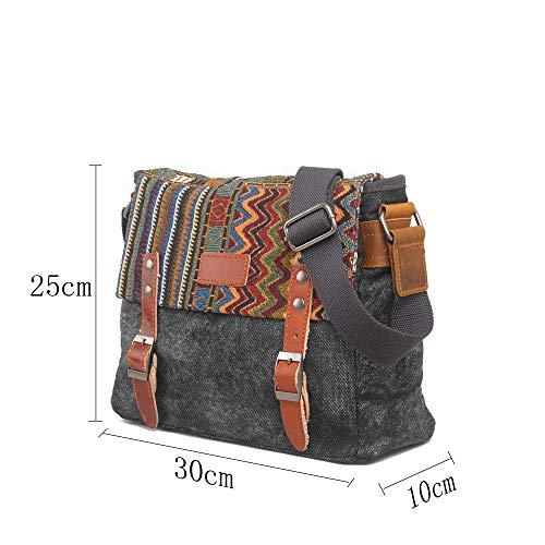 Bolsas Ocio Bandolera Hombro Gray Paquete brown Cuero Retro Mujeres Cuadrado Hombres Hkang® Pequeño De Y 5qwfF4nR