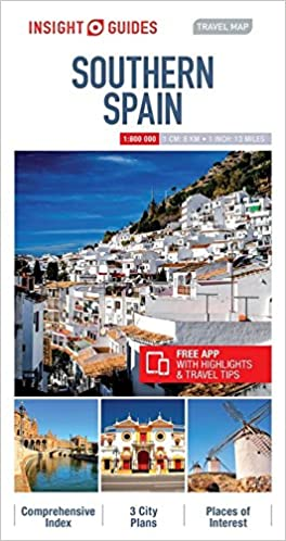 Travel Map Of Spain.Insight Guides Travel Map Southern Spain Insight Travel Maps