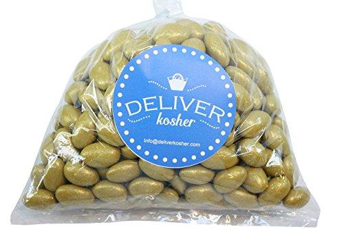 Deliver Kosher Bulk Candy - Gold Jordan Almonds - 1lb Bag]()