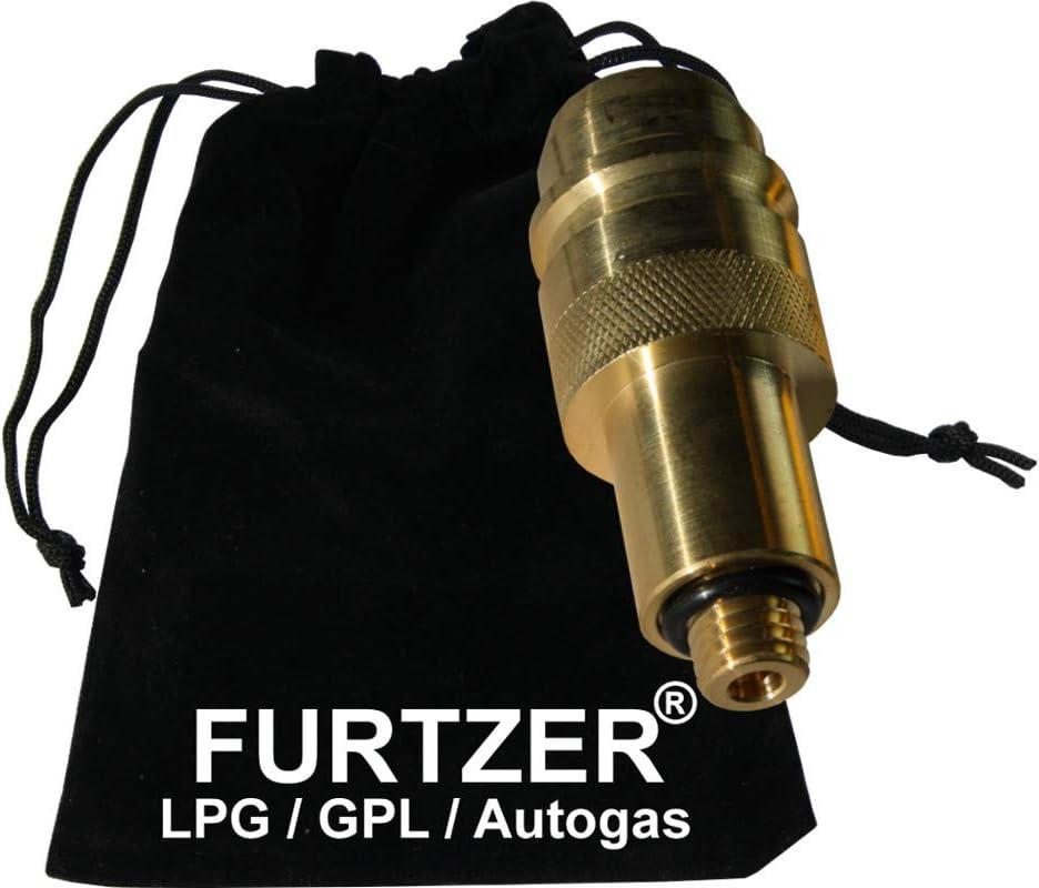 Furtzer LPG GPL Autogas Tankadapter M12 EURONOZZLE Kurz Adapter mit Stoffbeutel by
