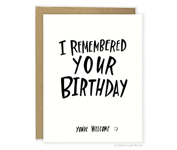 Amazon Funny Birthday Card Friend Youre Welcome
