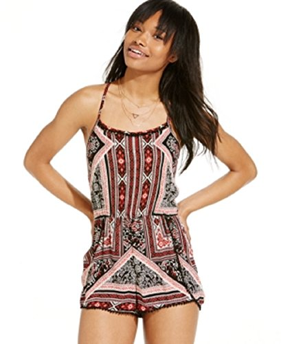 Angie-Juniors-Sleeveless-Printed-Romper-Small