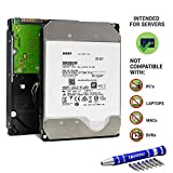 HGST Ultrastar He12 HDD 12TB 7200 RPM | 512e SAS 12Gb/s Interface | 3.5-Inch 256MB Cache | HUH721212AL5200 0F29530 | Enterprise Hard Drive Bundle with COMPATILY Aluminum Screw Driver Kit